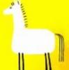 желтая позитивная лошадь