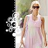 Christine: JS - Pink dress & carrying Daisy