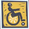 Инвалид на гоночной коляске