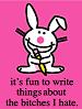 spite, blogging