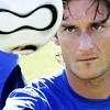 Totti blue shirt
