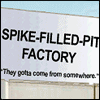 spike-filled-pit factory