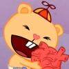 cub (HTF) hugs heart