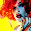Shocking red hair