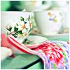 Dainty flowered teacups
