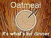 oatmeal dinner