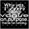 Being Vague