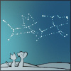friends, look at the stars