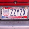 Zzyzx License Plate