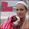 Genevieve: dog: Lulu beach