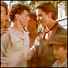 newsies: they almost kiss