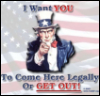 Uncle Sam, Come here LEGALLY