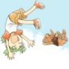 ye hath been owned~!!: flying yotsuba
