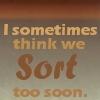 HPDH: sort too soon