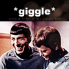 Spock and McCoy giggle