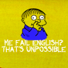 Simpsons Ralph Fail English