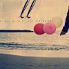 balloons on beach