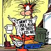 dinogrl: bill the cat takin a dump