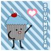 cupcake, icon, muffin, maria, Stud