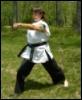 kata, long stance, punch