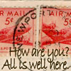 stamps letters airmail