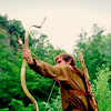 candidhappiness: robin bow&arrow aim