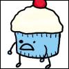 Dana: angry cupcake
