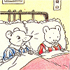 Valderys: Rupert the Bear in bed with friend