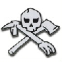 Skull & crossed tools