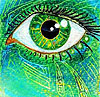 Lovecraftian green eye