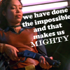 Impossible makes us mighty