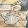 Teapot & Hands