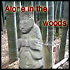 Alone in the woods. buddha.