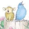 мышь и птичка