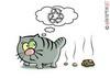 Кот какает