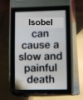painful death isobel