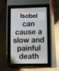 painful death isobel