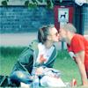 Monty & Antonin kiss in the park