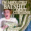 movie // music // batshit about curtains