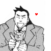 Nitesh: phoenix wright | gumshoe is adorable