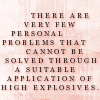 personal problems + explosives