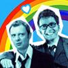 doctor/master bff rainbow!