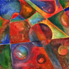 bubbles from a painting by Percy Wells