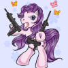 aggressive, My-Little-Pony with AK-47's