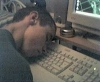 Me asleep on keyboard