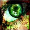 green goth eyes