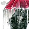 Kissing under-umbrella