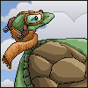 PIXEL - Wind turtle in goggles