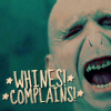 whining, complaining