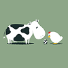 [VECTOR] Cow w Chick Egg